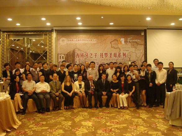 Presentación de vinos en China.