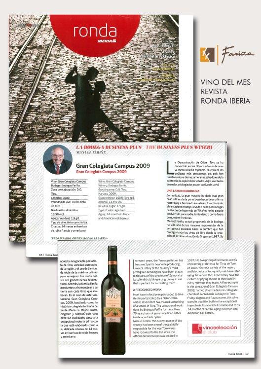 Fariña, en la revista RONDA IBERIA