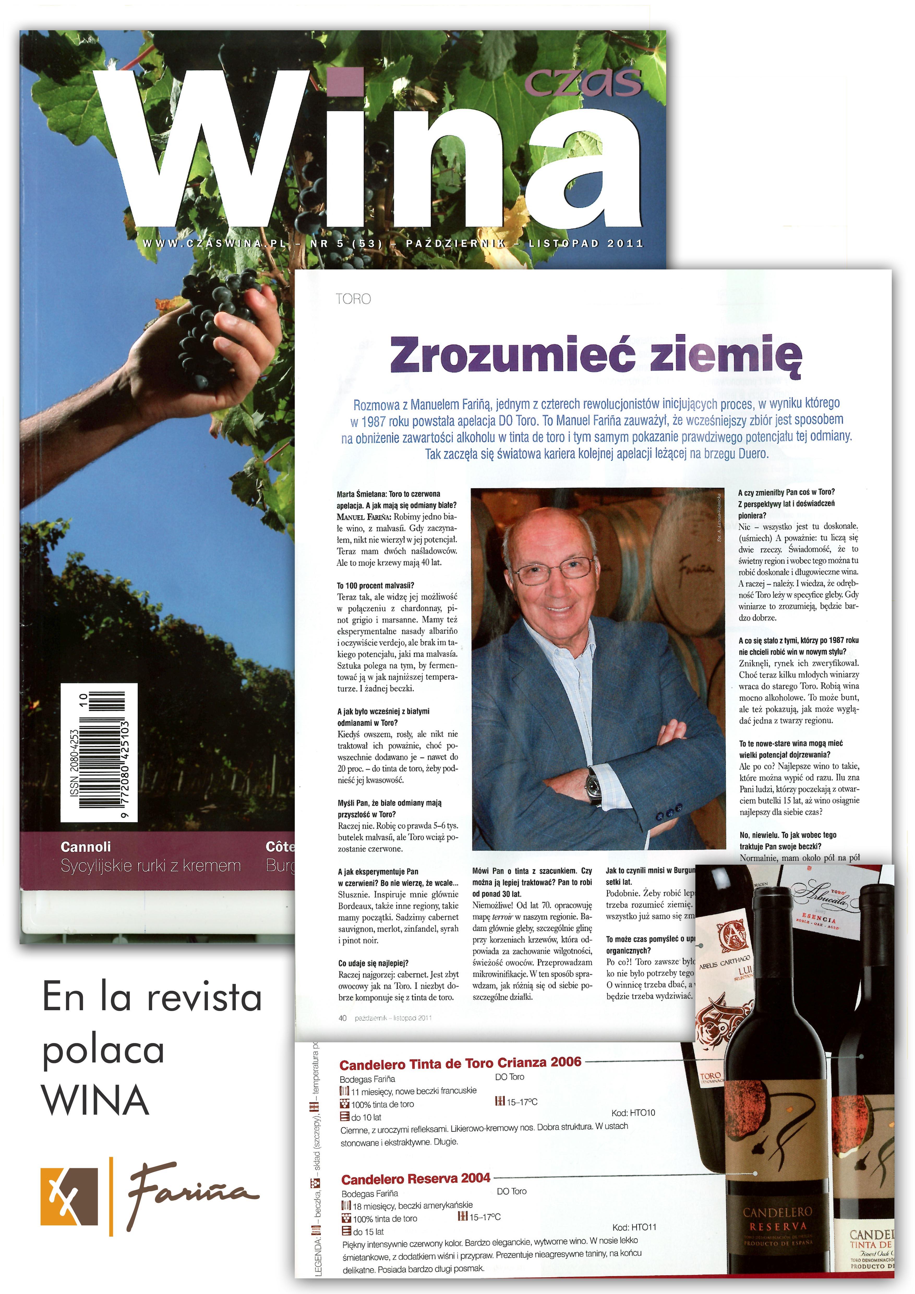 Fariña, en la revista polaca WINA